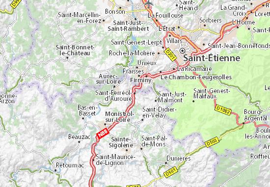 Carte-Plan Saint-Ferréol-d'Auroure