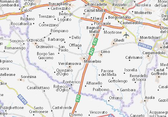 Karte Stadtplan Manerbio