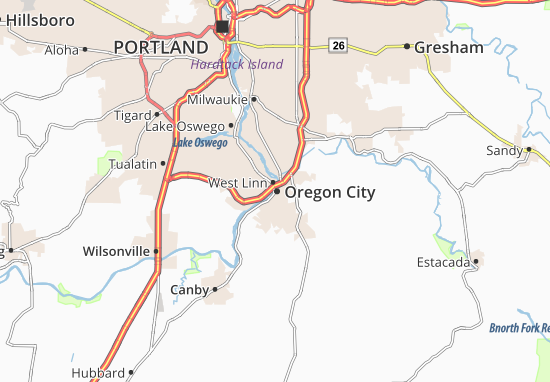 Oregon City Map