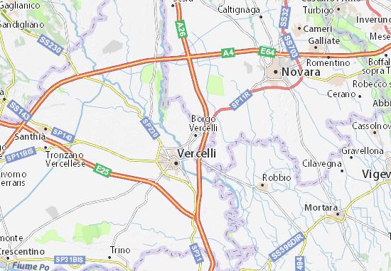 Carte-Plan Borgo Vercelli