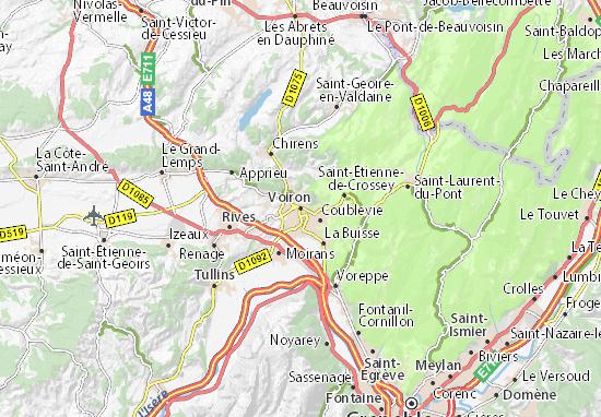 Voiron Map
