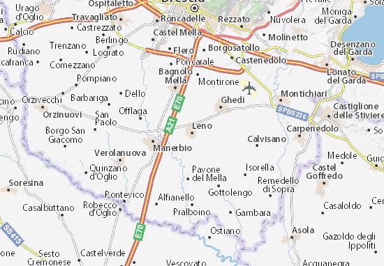 Karte Stadtplan Leno