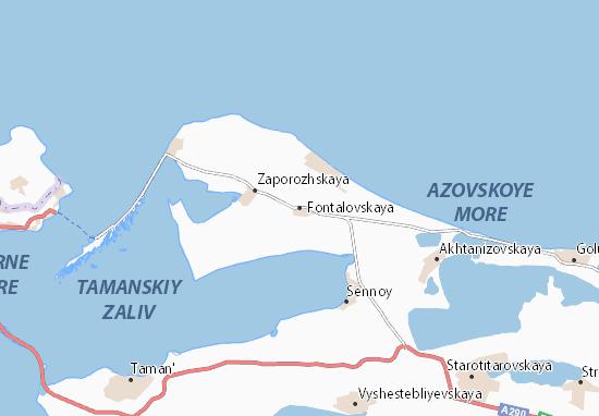 Mapa Plano Fontalovskaya
