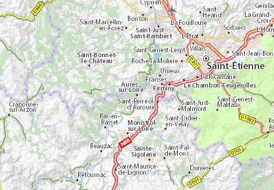 Carte-Plan Aurec-sur-Loire