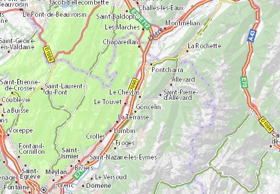 Le Cheylas Map