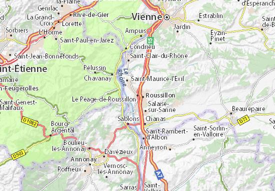 Mapa Plano Le Péage-de-Roussillon