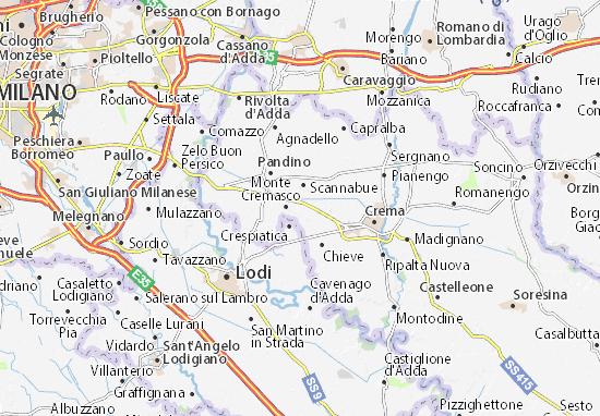 Karte Stadtplan Vaiano Cremasco