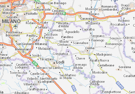 Karte Stadtplan Monte Cremasco