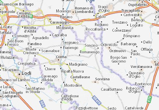 Romanengo Map