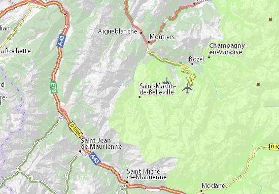 Kaart Plattegrond Saint-Martin-de-Belleville