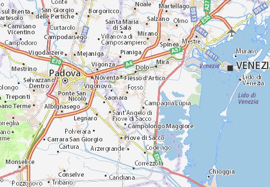 Karte Stadtplan Camponogara