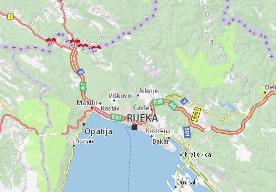 Jelenje Map