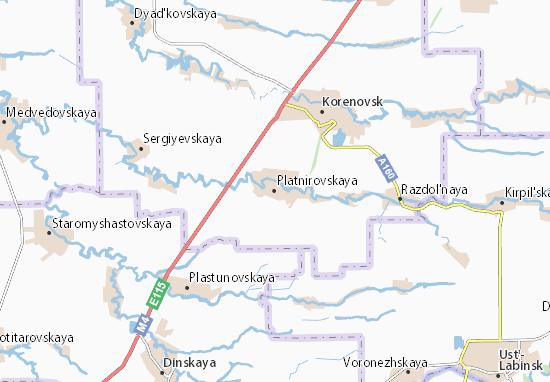 Carte-Plan Platnirovskaya