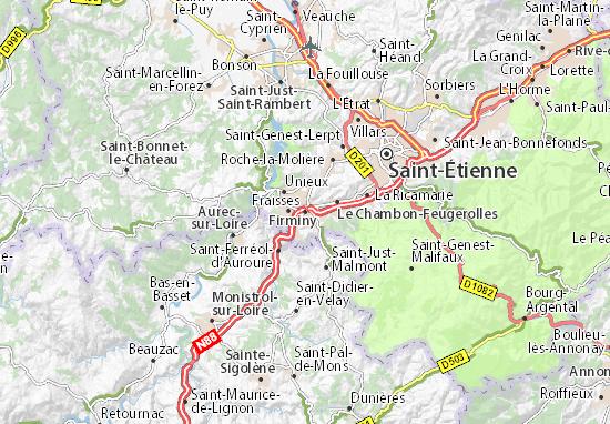 Karte Stadtplan Firminy