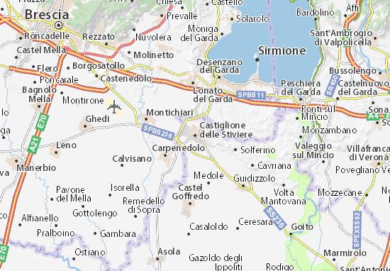 Kaart Plattegrond Castiglione delle Stiviere