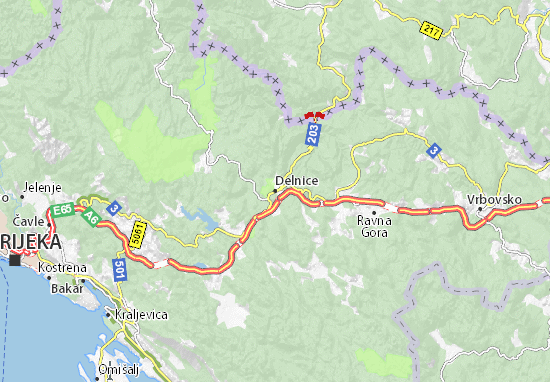 Delnice Map