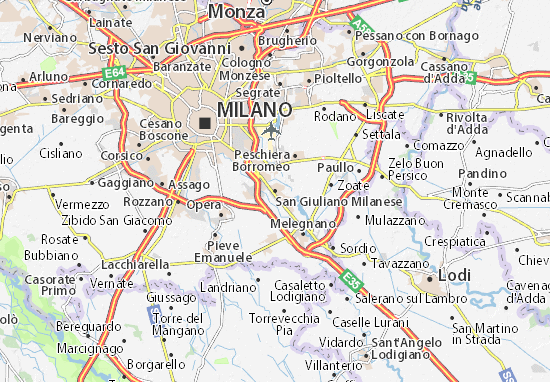 Mappa san giuliano milanese cartina san giuliano - Piastrelle san giuliano milanese ...