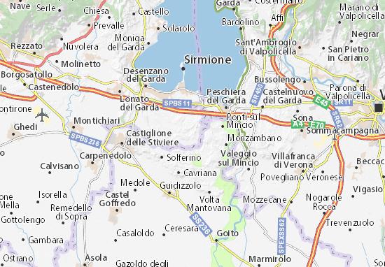 Kaart Plattegrond Pozzolengo