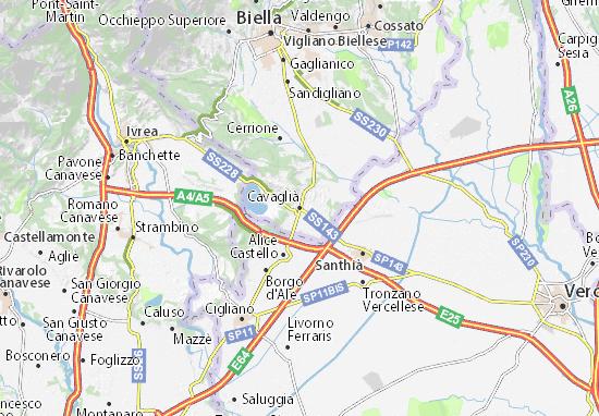 Mappe-Piantine Cavaglià
