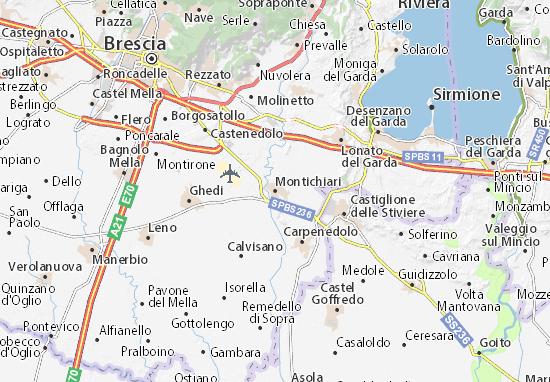 Kaart Plattegrond Montichiari