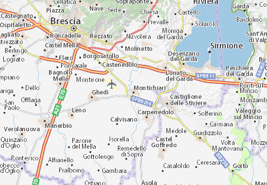 Karte Stadtplan Montichiari