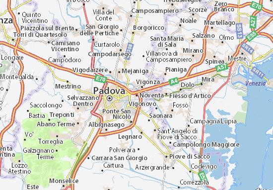 Karte Stadtplan Noventa