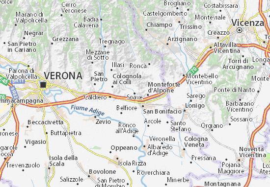 Karte Stadtplan Soave
