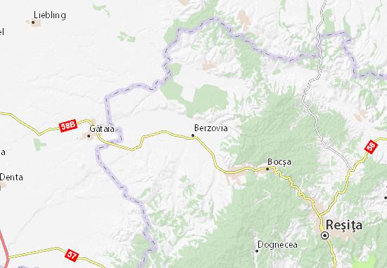 Kaart Plattegrond Berzovia