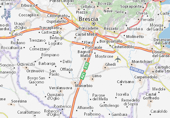 Kaart Plattegrond Bagnolo Mella