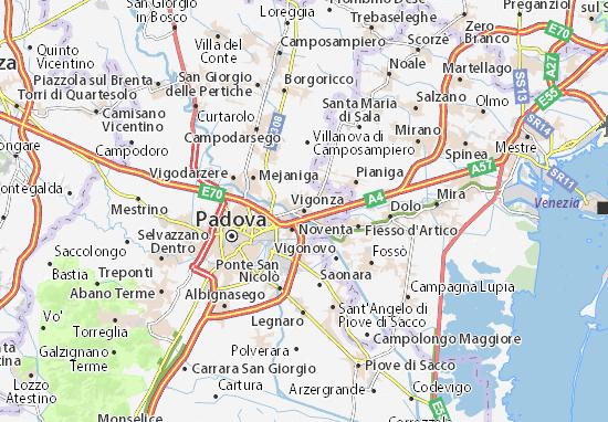 Karte Stadtplan Vigonza