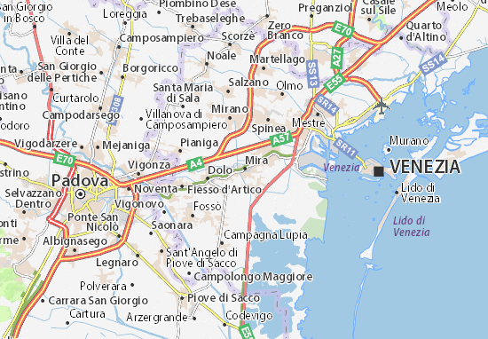 Karte Stadtplan Mira