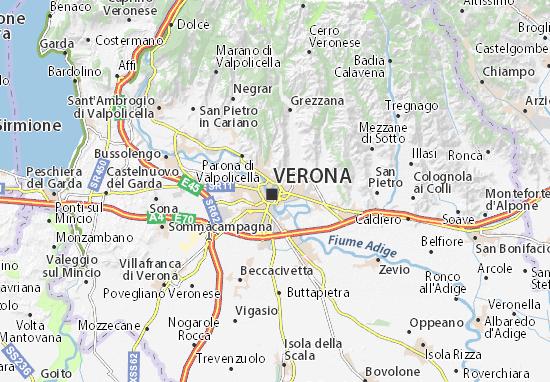 Mapa De Verona Italia.Mapa Verona Plano Verona Viamichelin
