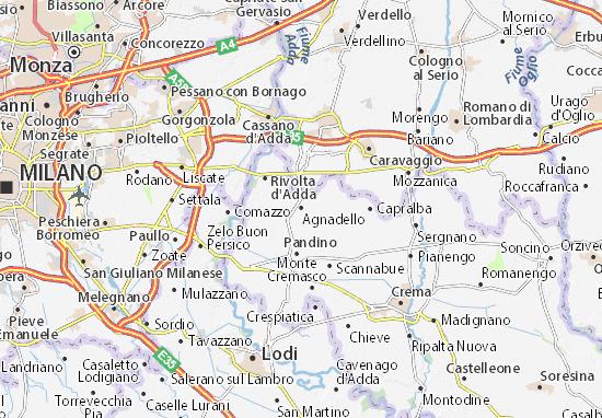 Karte Stadtplan Agnadello