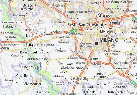 Cusago Map