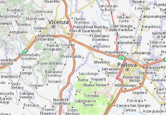 Karte Stadtplan Montegalda