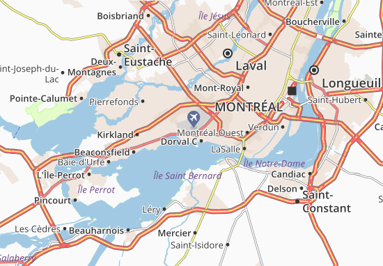 Carte Du Canada Montreal.Carte Detaillee Dorval C Plan Dorval C Viamichelin
