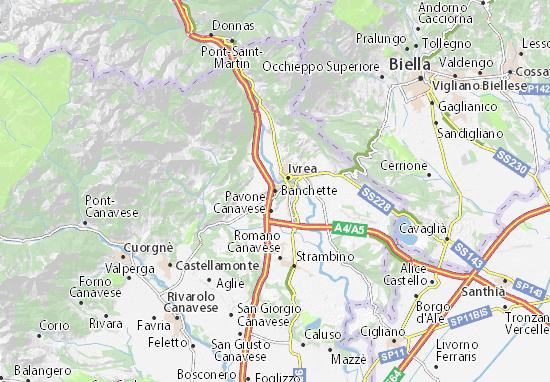 Banchette Map