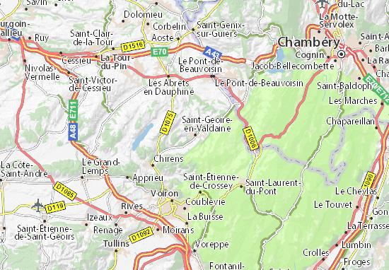 Karte Stadtplan Saint-Geoire-en-Valdaine