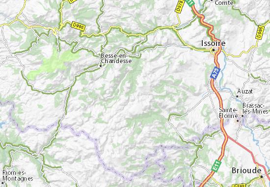Mapa Plano Roche-Charles-la-Mayrand