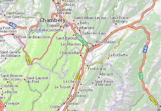 Chapareillan Map