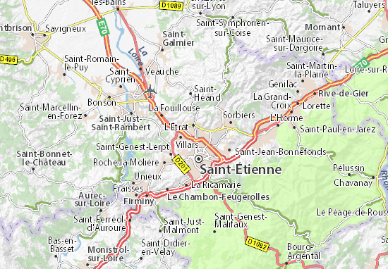 Carte-Plan Saint-Priest-en-Jarez
