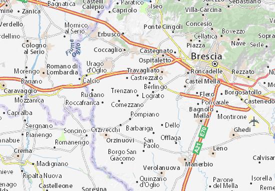 Trenzano Map