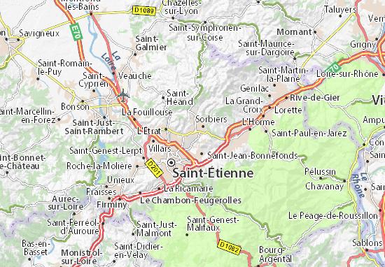 Carte-Plan La Talaudière