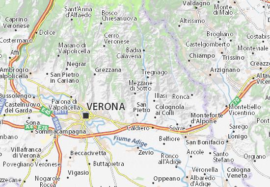 Mezzane di Sotto Map