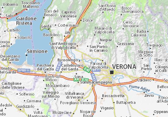 Kaart Plattegrond Pescantina