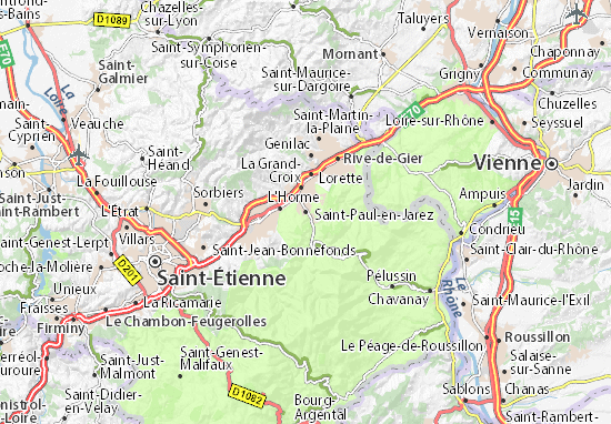 Saint-Paul-en-Jarez Map