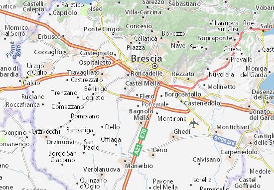 Karte Stadtplan Flero