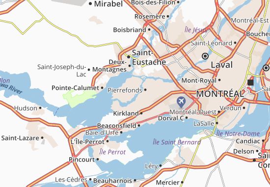 L'Île-Bizard Map