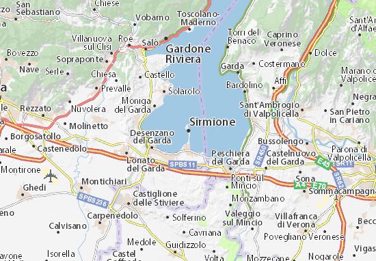 Karte Stadtplan Sirmione