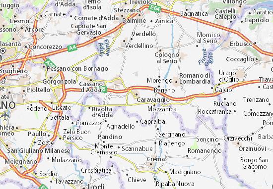 Karte Stadtplan Caravaggio